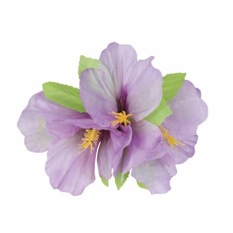 Pince à cheveux surmontée d'une fleur en tissu