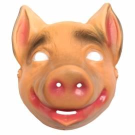 Masque de cochon en plastique