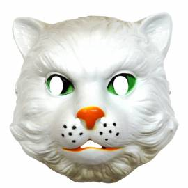Masque de chat blanc