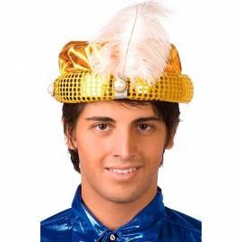Chapeau oriental doré