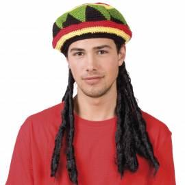 Perruque dreadlocks avec chapeau