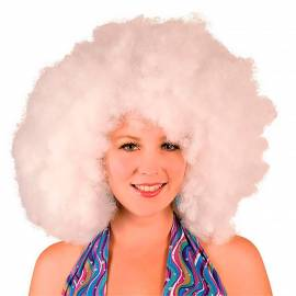 Maxi perruque afro blanche