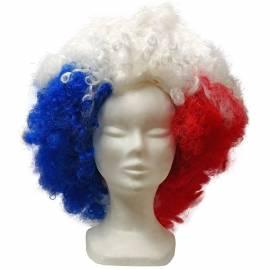 Maxi perruque bleu blanc rouge
