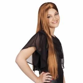 Perruque longue, blond vénitien
