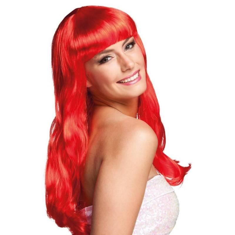 Perruque longue rouge, façon Jessica Rabbit