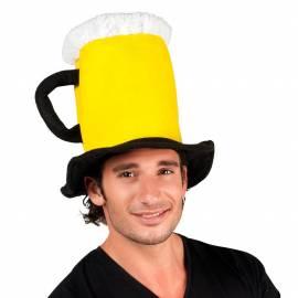 Chapeau en forme de chope de bière
