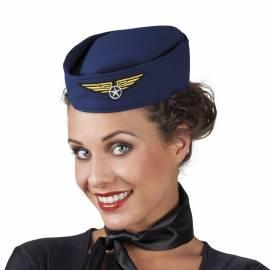 Béret bleu marine d'hôtesse de l'air