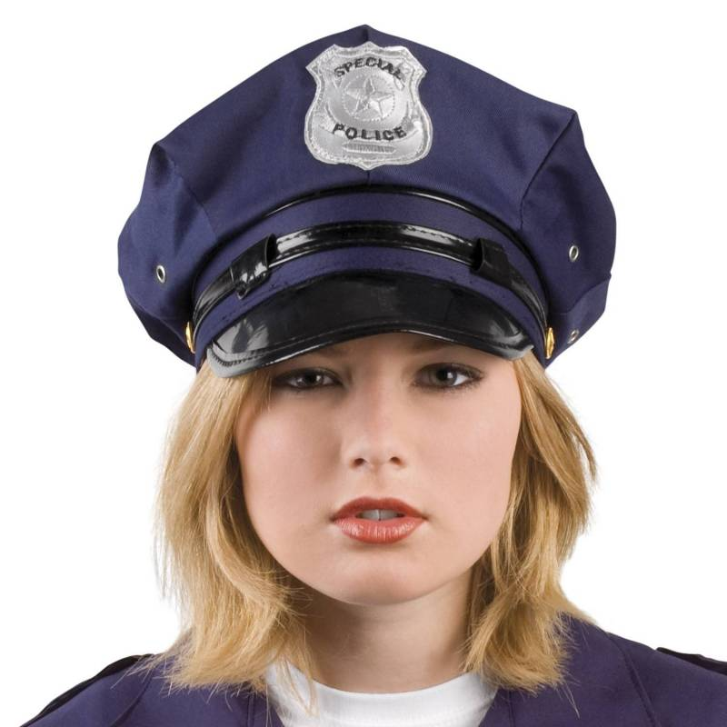 Casquette bleu marine de police