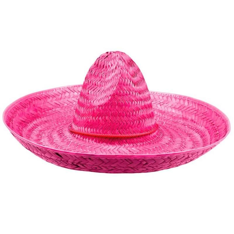 Sombrero de couleur en paille