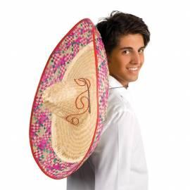 Sombrero avec paille de couleur