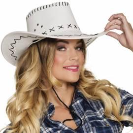 Chapeau de cow-boy en couleur avec coutures apparentes