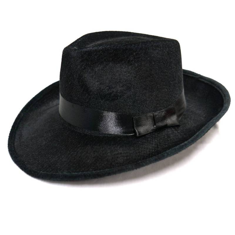 Chapeau borsalino noir en velours