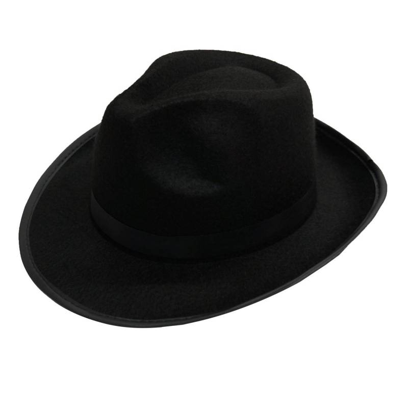 Chapeau noir en feutre avec ruban noir à la base