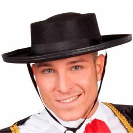 Chapeau noir en feutre de matador