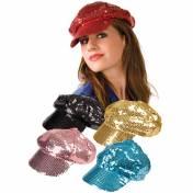 Casquette disco de couleur à paillettes