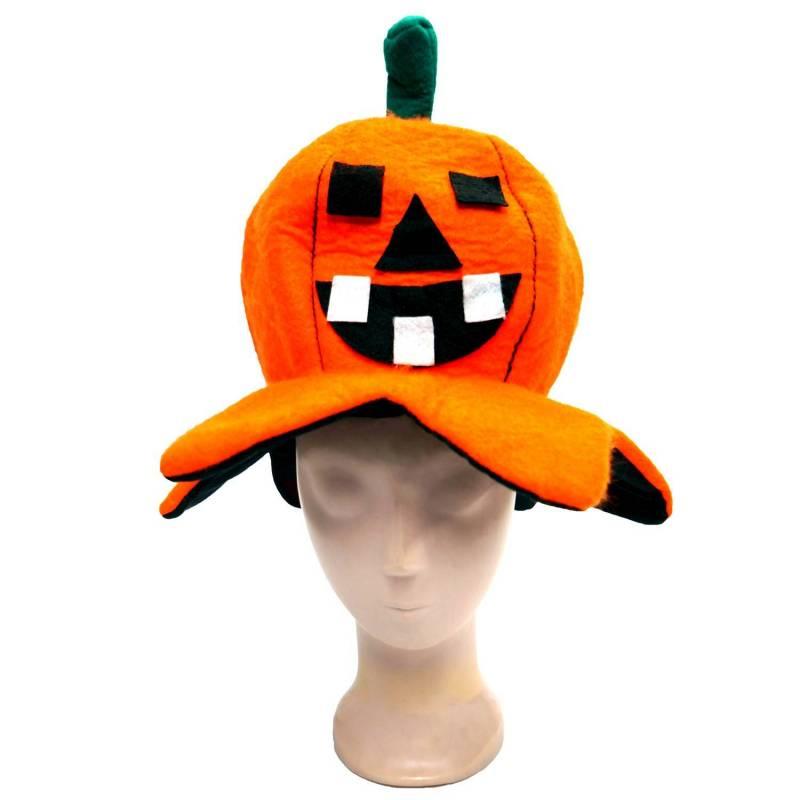 Chapeau d'Halloween en forme de citrouille