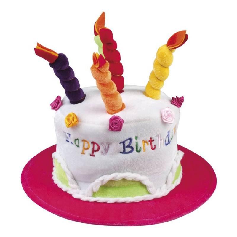 Chapeau d'anniversaire en forme de gateau