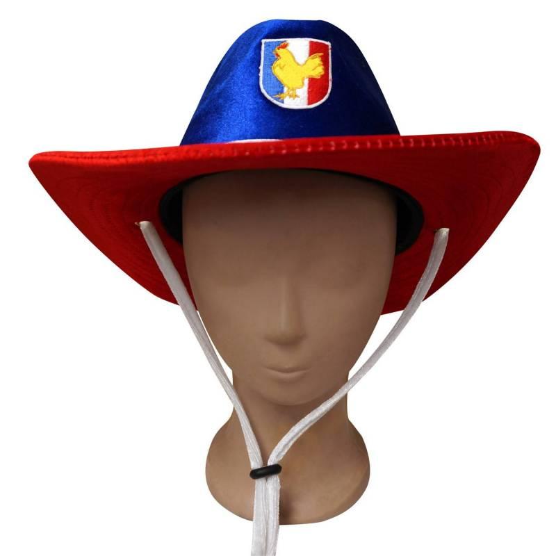 Chapeau de cow-boy tricolore de supporter