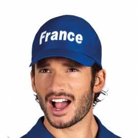 """Casquette bleue avec """"France"""" en blanc"""