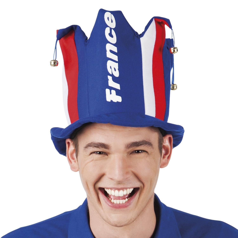 Chapeau de joker tricolore avec