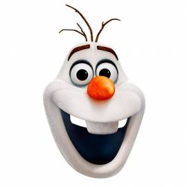 Masque en carton de Olaf (La reine des neiges)