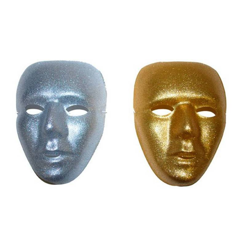 mignonne prix modéré très loué Masque rigide pailleté or ou argent