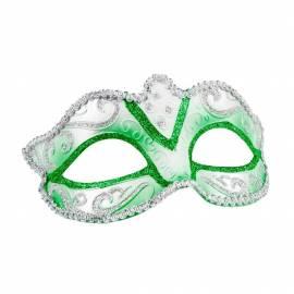 Masque rigide vénitien de couleur avec bordures or ou argent