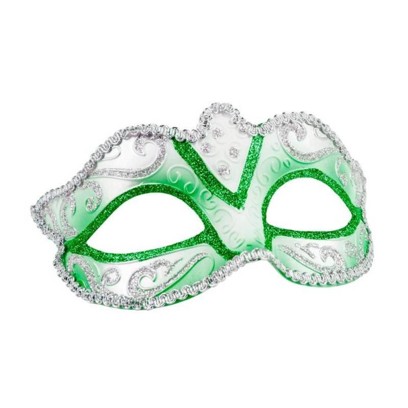 nouveau pas cher faire les courses pour dégagement Masque rigide vénitien de couleur avec bordures or ou argent