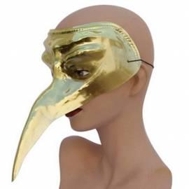 Masque de couleur à long bec, à décorer, en plastique