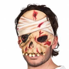 Masque en latex d'une tête de mort de pirate