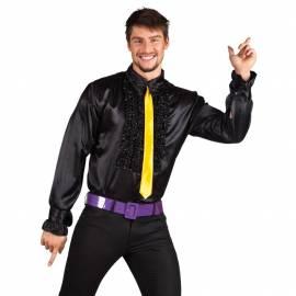 Chemise disco à frou-frou pour homme