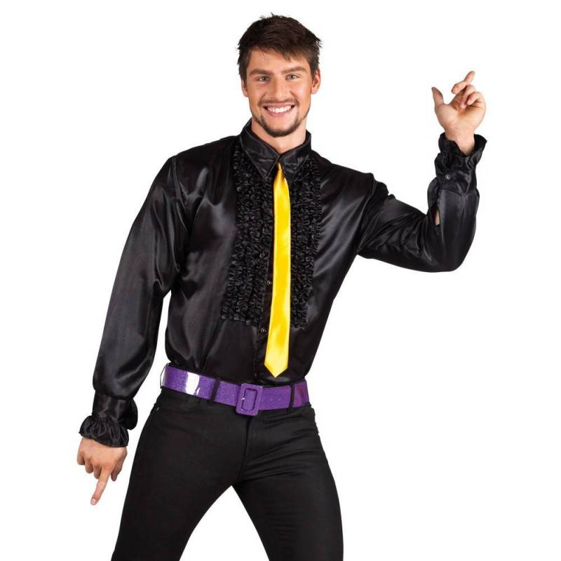 Chemise disco froufrou homme