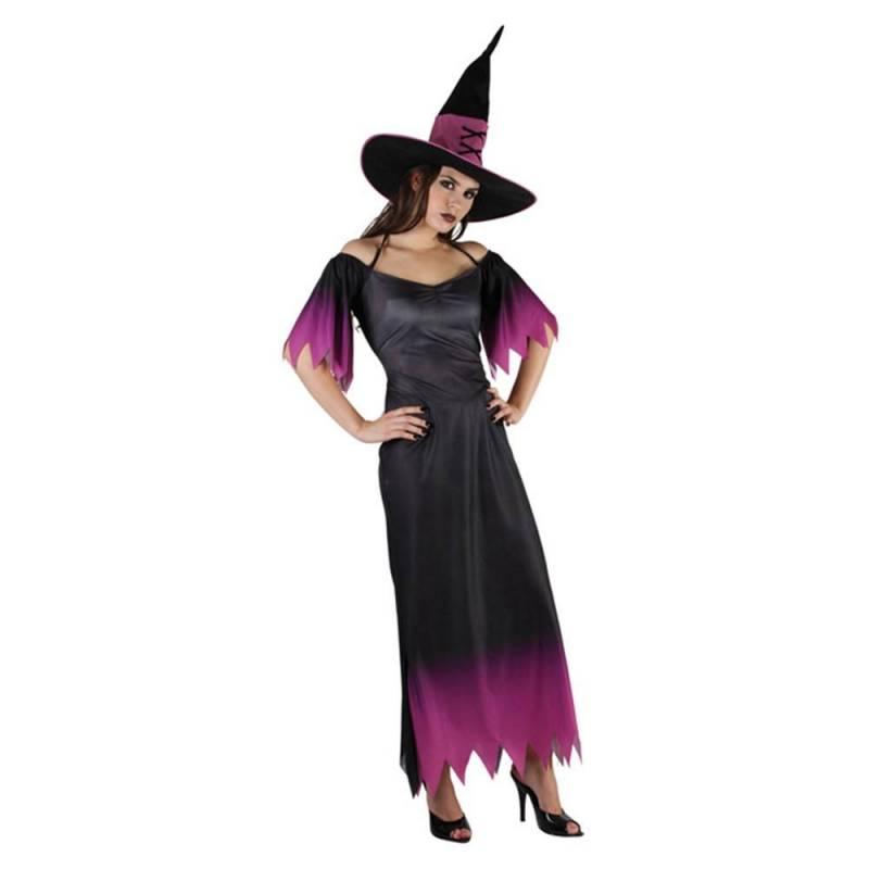 Déguisement de sorcière noir et mauve