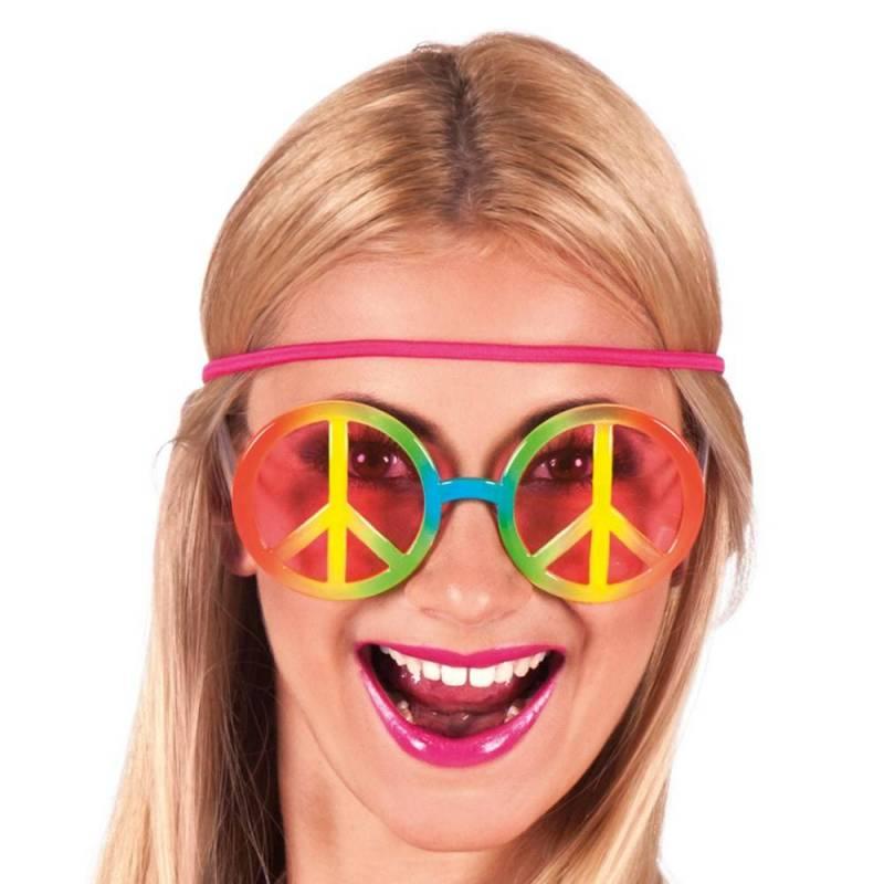 Lunettes rondes hippies multicolores