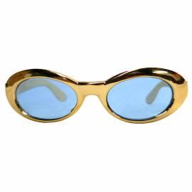 Lunettes dorées à verres bleutés
