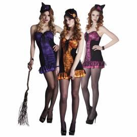 Courte robe bustier de couleur de sorcière sexy