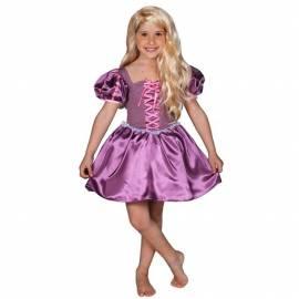Robe enfant violette et rose de Raiponce