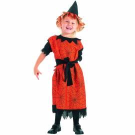 Déguisement enfant de sorcière orange et noir