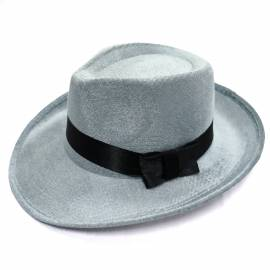 Chapeau borsalino gris en velours