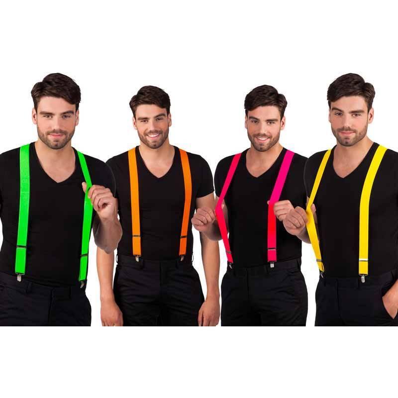 Bretelles de couleur FLUO