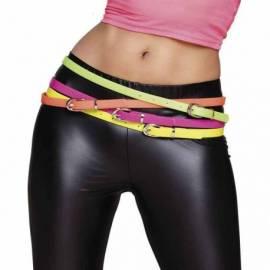 Fine ceinture de couleur fluo en plastique