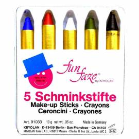 Pack de 5 fards de maquillage en bâton