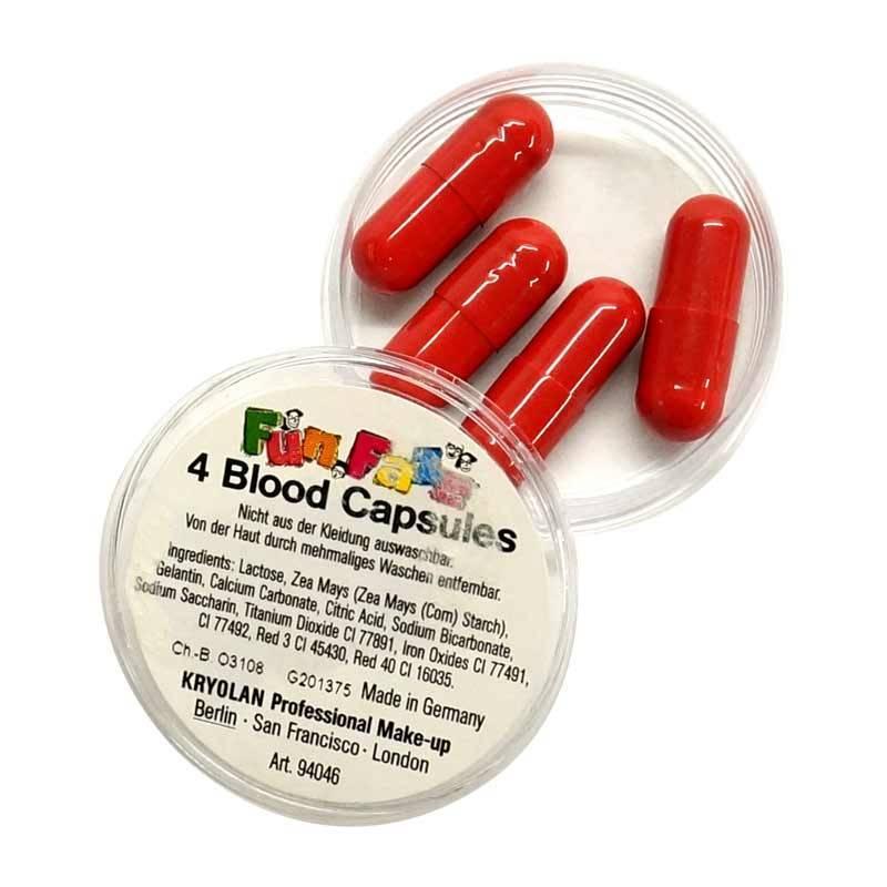 Boite de 4 capsules de faux sang