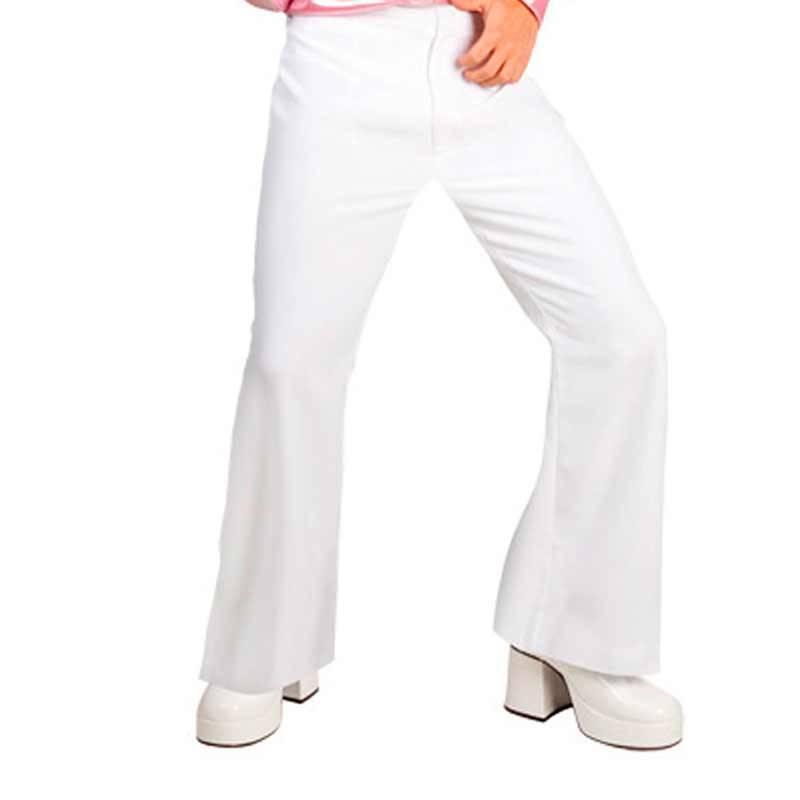 Pantalon patte d'eph blanc