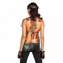 T-Shirt fausse bikeuse sexy et tatouée