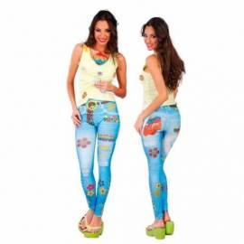Leggins hippie en faux jean