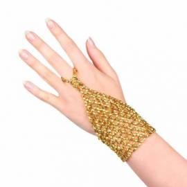 Gant oriental en perles de couleurs