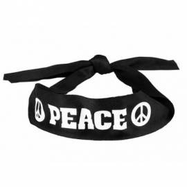 "Pack hippie (bandeau + lunettes rondes + pendentif ""Peace and love"")"