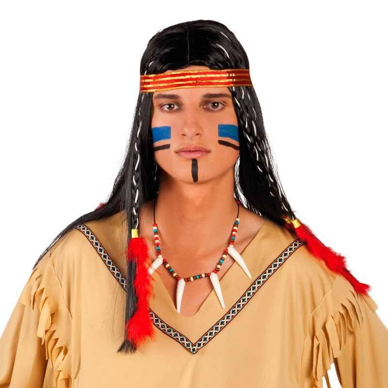Collier d'indien avec perles et fausses dents