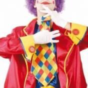 Grosse cravate à carreaux de clown